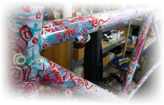 Exotic Custom Bicycle Paint