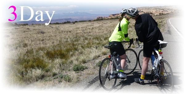 3 Road Bicycling Day Tours in Moab, Utah.