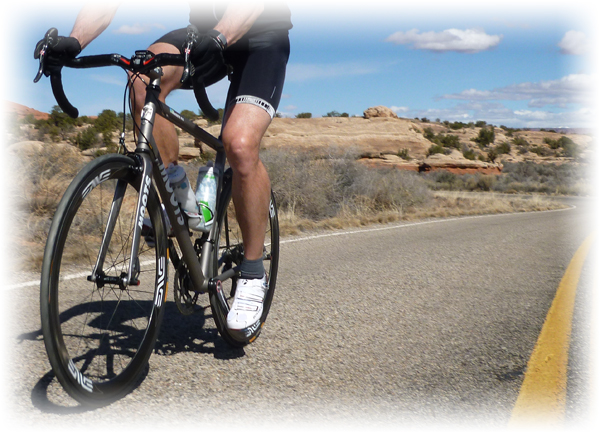 Moots Vamoots RSL on the road in Canyonlands National Park