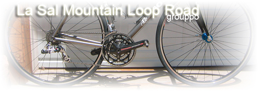 La Sal Mountain Road bicycle parts group