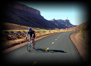 Guided Road Cycling in Moab