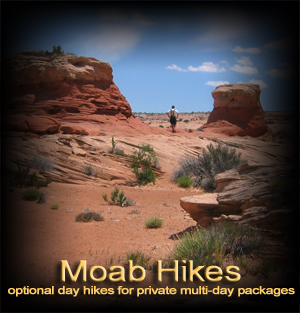Guided day hikes around Moab