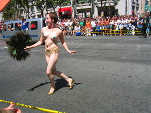 Gay Pride Parade, dancer. Gay Pride Week is the best time for a deal on a ...