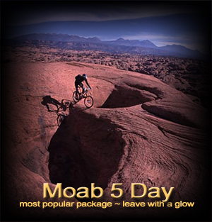 Moab 5 day mountain bike vacation