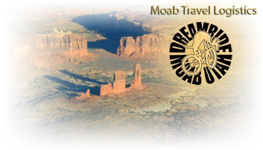 Moab logistical travel information.